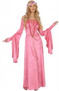Déguisement princesse médiévale rose femme