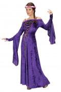 Déguisement princesse médiévale effet velours femme