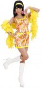 Déguisement années 70 orange femme