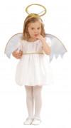Déguisement ange blanc bébé fille
