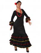 Disfraz negro de sevillana para mujer
