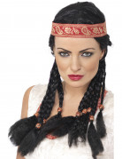 Red Indian wig for women