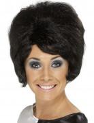 Perruque noire beehive femme