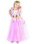 Déguisement princesse avec ceinture dorée fille