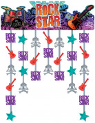 D�coration de porte rock star