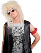 Perruque rock star blonde adulte