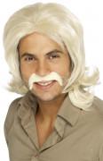 Perruque années 70 blonde homme