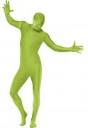 Déguisement seconde peau vert adulte