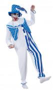 Déguisement clown bleu et blanc adulte