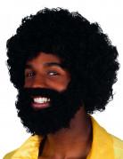 Perruque Mambo avec barbe et moustache Adulte