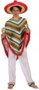 Déguisement mexicain rayé homme