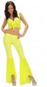 Déguisement disco sexy fluo jaune femme