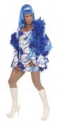 Déguisement Drag Queen disco homme bleu