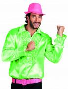 Chemise disco homme verte