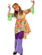 D�guisement power flower hippie fille