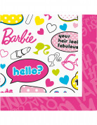20 serviettes papier barbie�