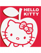 20 serviettes papier Hello Kitty Apple�