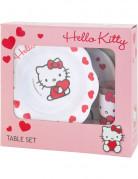 Coffret vaisselle m�lamine Hello Kitty Sweet Heart 3 pi�ces�