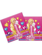 20 serviettes papier Barbie Cute Pets�
