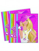 20 serviettes papier Barbie Dollicious�