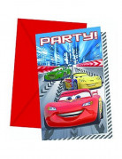 6 cartes d'invitation Cars Racers�