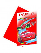 6 cartes d'invitation Cars 2�