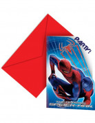 6 cartes d'invitation The Amazing Spiderman�