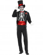 Déguisement gentleman squelette homme Halloween