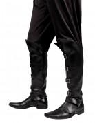 Sur-bottes noires effet cuir adulte