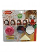 Kit maquillage clown halloween