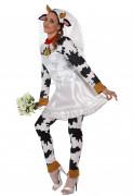 Déguisement vache mariée adulte