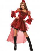 D�guisement princesse sexy gothique rouge femme