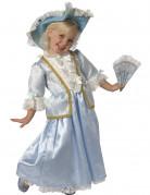 D�guisement princesse renaissance enfant fille bleu et dentelle