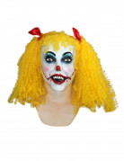 Masque int�gral clown femme sourire de l'ange Halloween