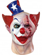 Masque int�gral clown am�ricain double face adulte Halloween