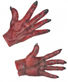 Gants diable rouge adulte Halloween
