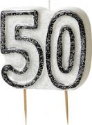Bougie Age 50 ans gris