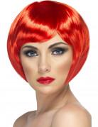 Perruque cabaret rouge courte rouge