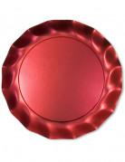Vous aimerez aussi : 5 Grandes assiettes rouges satin�es
