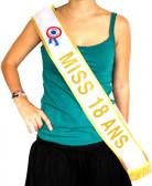 Echarpe or Miss 18 ans