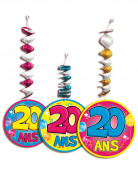 3 D�corations � suspendre accord�on 20 ans