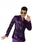 Veste disco violette brillante homme