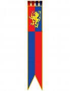 Décoration à suspendre bannière médiévale 180 cm