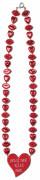 Collier rouge bouches et coeurs Saint-Valentin