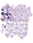 Vous aimerez aussi : Confettis coeurs lilas relief