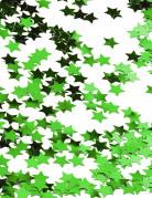 Confetti de estrellas verde met�lico