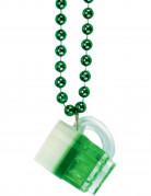 Collar jarra de cerveza verde San Patrick