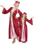 Déguisement couple reine médiévale mère et fille
