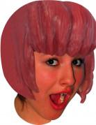 Perruque latex manga carré avec frange adulte couleur rouge