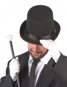 Chapeau haut de forme noir avec nœud adulte